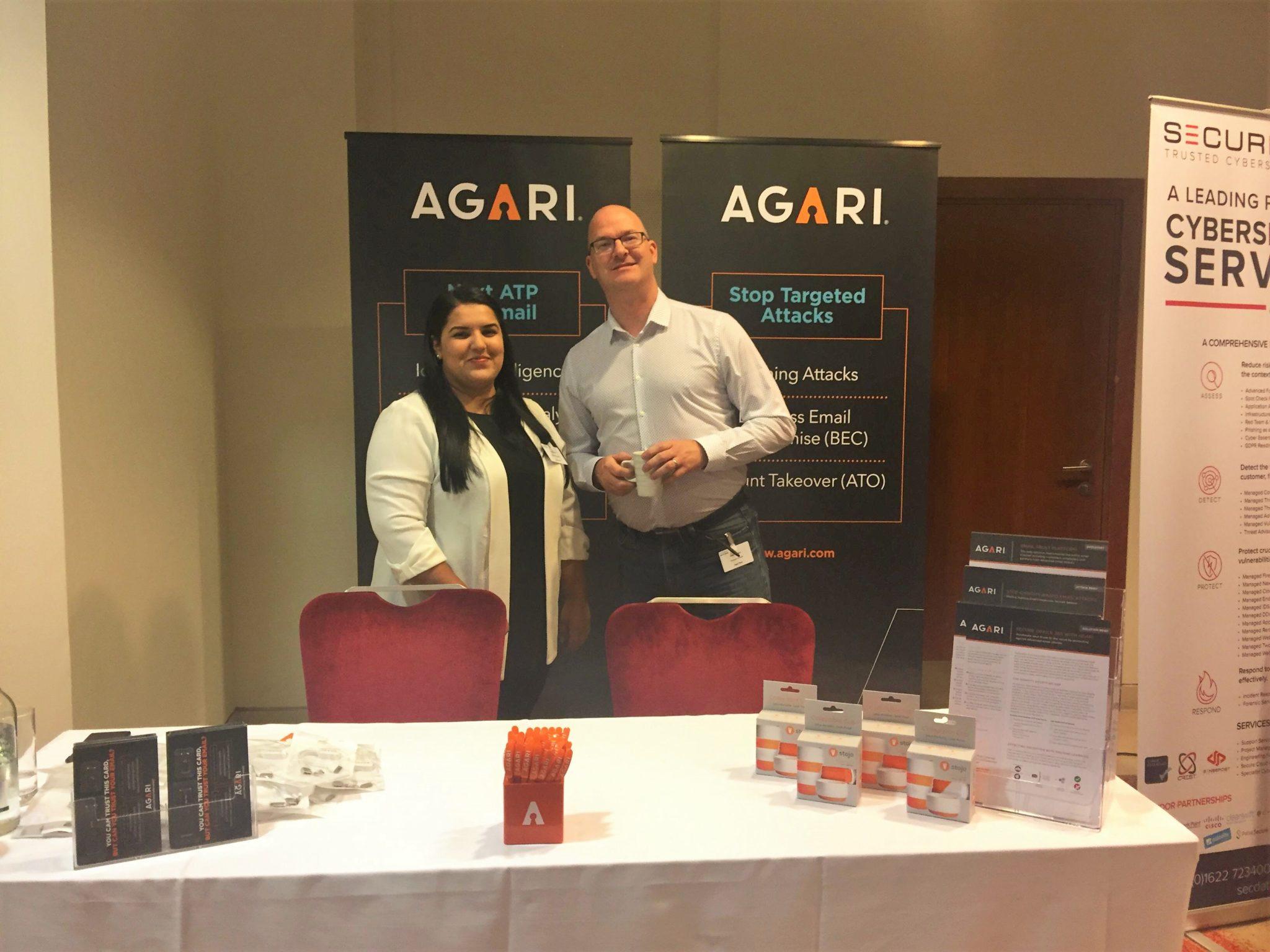 David and Agari at Securing Online Gaming Event.